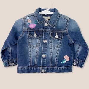 Peek Kids Embroidered Denim Jacket 12-18M